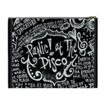 Panic ! At The Disco Lyric Quotes Cosmetic Bag (XL) Back