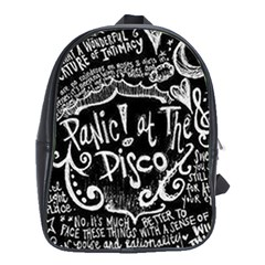 Panic ! At The Disco Lyric Quotes School Bags(Large)