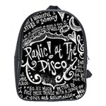 Panic ! At The Disco Lyric Quotes School Bags(Large)  Front