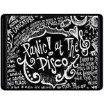 Panic ! At The Disco Lyric Quotes Fleece Blanket (Large)  80 x60 Blanket Front