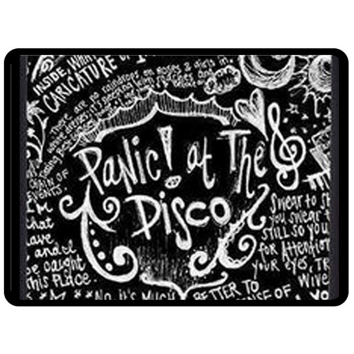 Panic ! At The Disco Lyric Quotes Fleece Blanket (Large)
