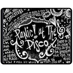 Panic ! At The Disco Lyric Quotes Fleece Blanket (Medium)