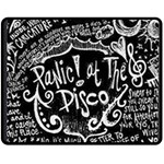Panic ! At The Disco Lyric Quotes Fleece Blanket (Medium)  60 x50 Blanket Front