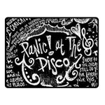 Panic ! At The Disco Lyric Quotes Fleece Blanket (Small) 50 x40 Blanket Front