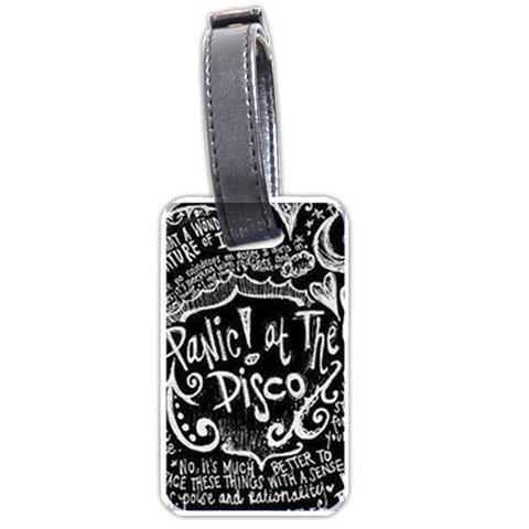 Panic ! At The Disco Lyric Quotes Luggage Tags (One Side)