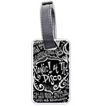 Panic ! At The Disco Lyric Quotes Luggage Tags (Two Sides) Back