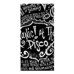 Panic ! At The Disco Lyric Quotes Shower Curtain 36  x 72  (Stall)  33.26 x66.24 Curtain
