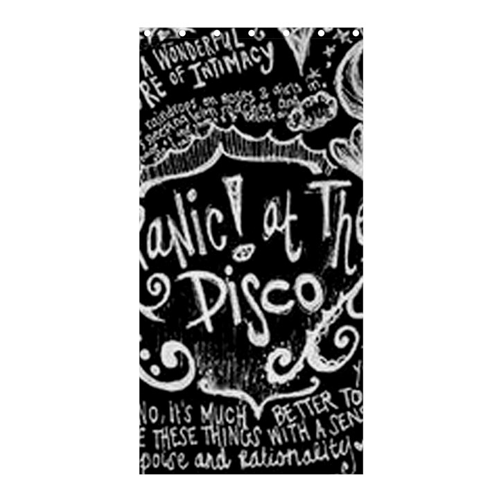 Panic ! At The Disco Lyric Quotes Shower Curtain 36  x 72  (Stall)