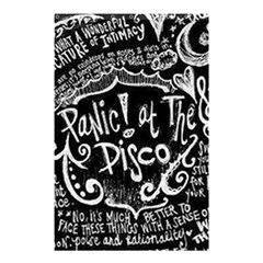Panic ! At The Disco Lyric Quotes Shower Curtain 48  x 72  (Small)