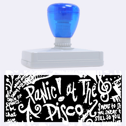 Panic ! At The Disco Lyric Quotes Rubber Address Stamps (XL)
