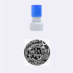 Panic ! At The Disco Lyric Quotes Rubber Round Stamps (Small) 1.12 x1.12  Stamp