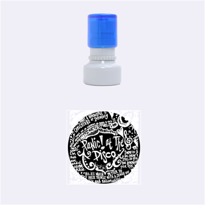 Panic ! At The Disco Lyric Quotes Rubber Round Stamps (Small)