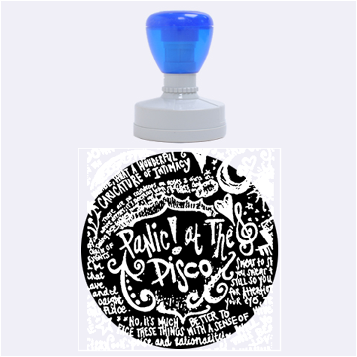 Panic ! At The Disco Lyric Quotes Rubber Round Stamps (Large)