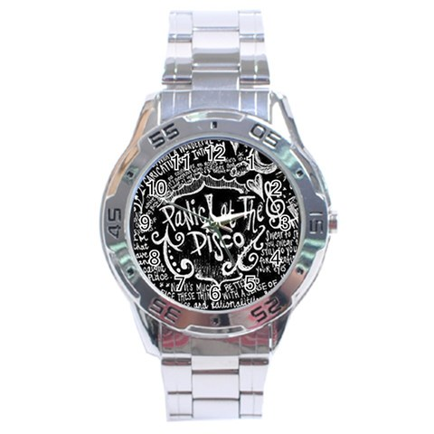 Panic ! At The Disco Lyric Quotes Stainless Steel Analogue Watch