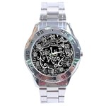 Panic ! At The Disco Lyric Quotes Stainless Steel Analogue Watch Front
