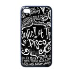 Panic ! At The Disco Lyric Quotes Apple iPhone 4 Case (Black) Front