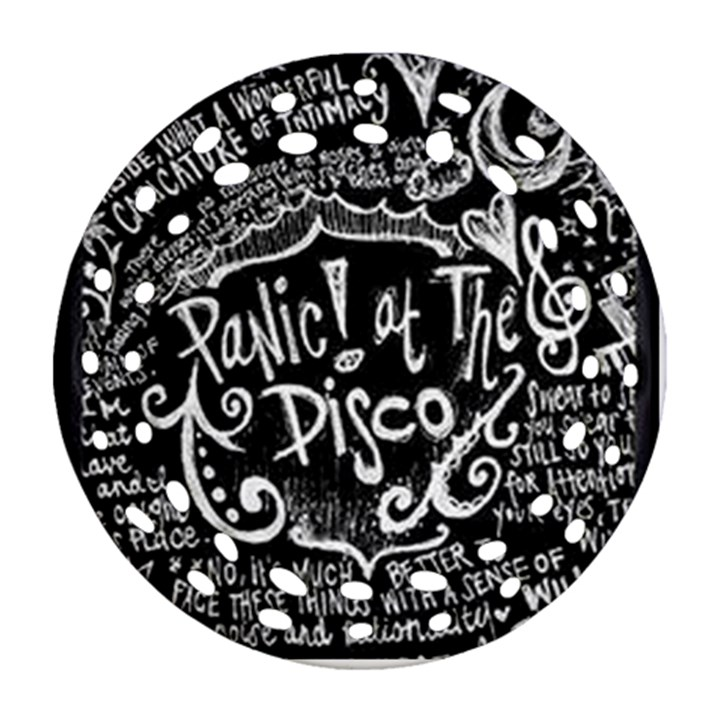 Panic ! At The Disco Lyric Quotes Round Filigree Ornament (2Side)
