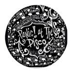 Panic ! At The Disco Lyric Quotes Round Filigree Ornament (2Side) Back