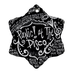 Panic ! At The Disco Lyric Quotes Snowflake Ornament (2-Side)