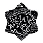 Panic ! At The Disco Lyric Quotes Snowflake Ornament (2-Side) Back