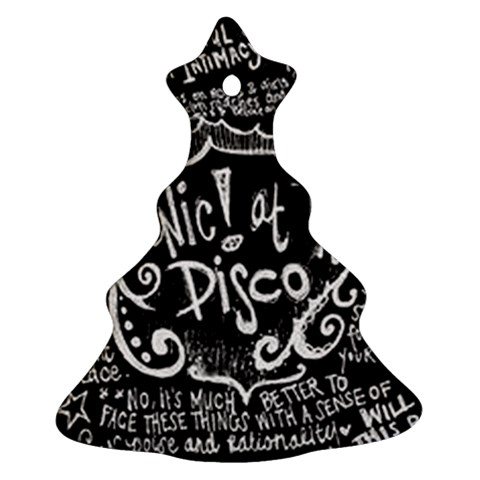 Panic ! At The Disco Lyric Quotes Christmas Tree Ornament (2 Sides)