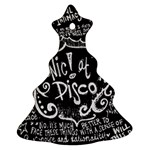 Panic ! At The Disco Lyric Quotes Christmas Tree Ornament (2 Sides) Back