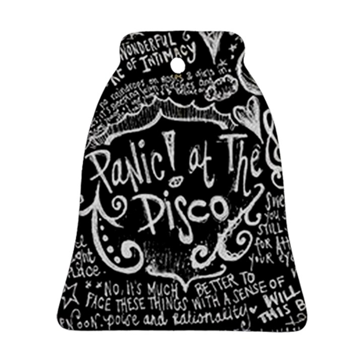 Panic ! At The Disco Lyric Quotes Bell Ornament (2 Sides)