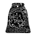 Panic ! At The Disco Lyric Quotes Bell Ornament (2 Sides) Back