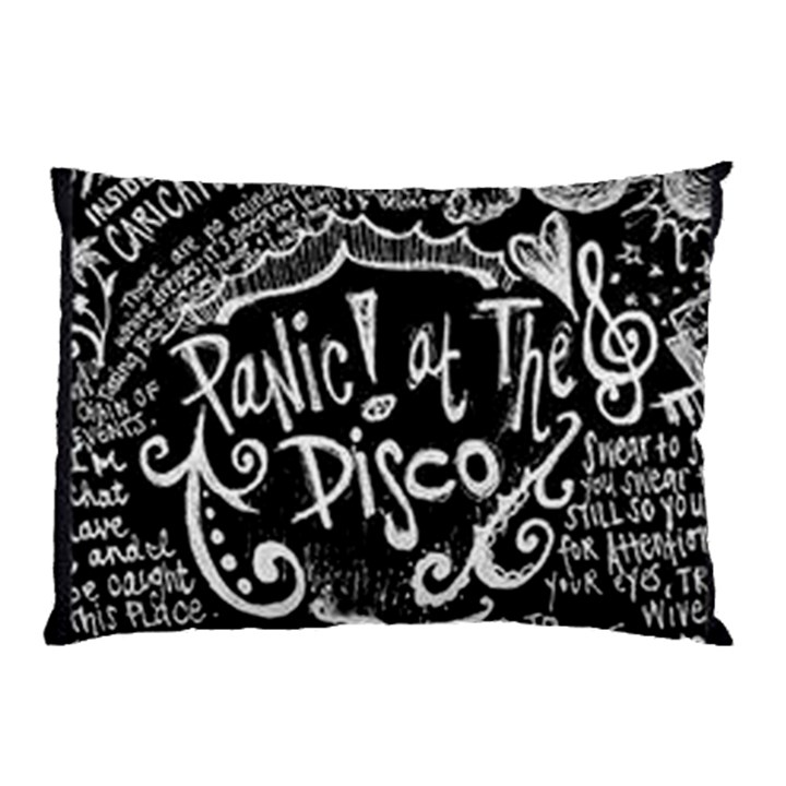 Panic ! At The Disco Lyric Quotes Pillow Case (Two Sides)