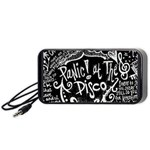 Panic ! At The Disco Lyric Quotes Portable Speaker (Black)  Front