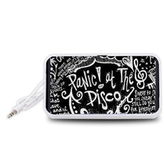 Panic ! At The Disco Lyric Quotes Portable Speaker (White)