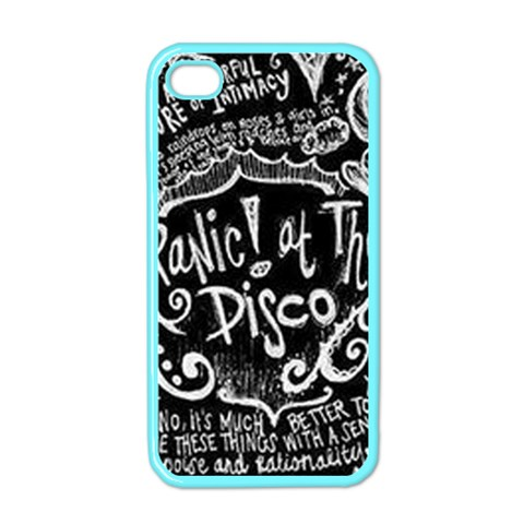 Panic ! At The Disco Lyric Quotes Apple iPhone 4 Case (Color)