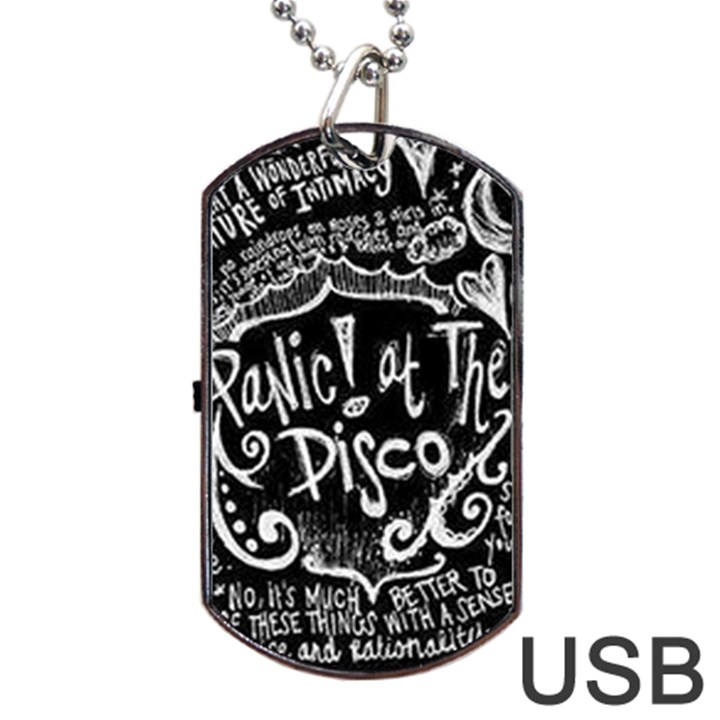 Panic ! At The Disco Lyric Quotes Dog Tag USB Flash (Two Sides)