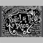 Panic ! At The Disco Lyric Quotes Deluxe Canvas 18  x 12   18  x 12  x 1.5  Stretched Canvas