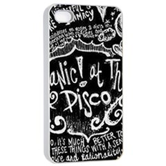 Panic ! At The Disco Lyric Quotes Apple Iphone 4/4s Seamless Case (white)