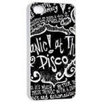 Panic ! At The Disco Lyric Quotes Apple iPhone 4/4s Seamless Case (White) Front