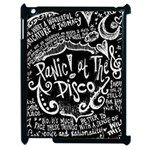 Panic ! At The Disco Lyric Quotes Apple iPad 2 Case (Black) Front