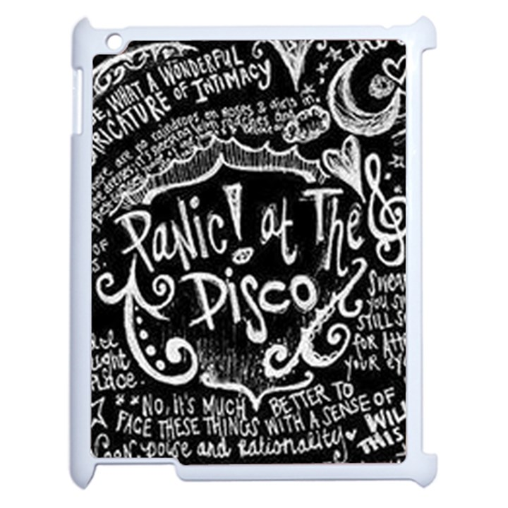 Panic ! At The Disco Lyric Quotes Apple iPad 2 Case (White)
