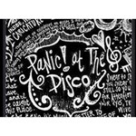 Panic ! At The Disco Lyric Quotes Heart Bottom 3D Greeting Card (7x5) Back