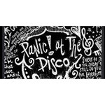 Panic ! At The Disco Lyric Quotes Twin Heart Bottom 3D Greeting Card (8x4) Front