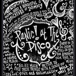 Panic ! At The Disco Lyric Quotes Twin Heart Bottom 3D Greeting Card (8x4) Inside