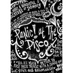 Panic ! At The Disco Lyric Quotes Apple 3D Greeting Card (7x5) Inside