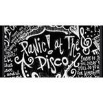 Panic ! At The Disco Lyric Quotes Congrats Graduate 3D Greeting Card (8x4) Back