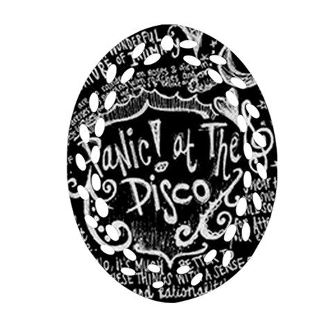 Panic ! At The Disco Lyric Quotes Oval Filigree Ornament (2-Side)