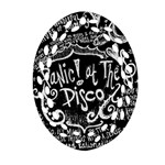 Panic ! At The Disco Lyric Quotes Oval Filigree Ornament (2-Side)  Front