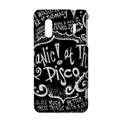 Panic ! At The Disco Lyric Quotes HTC Evo Design 4G/ Hero S Hardshell Case