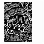 Panic ! At The Disco Lyric Quotes Large Garden Flag (Two Sides) Back
