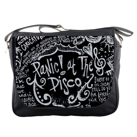 Panic ! At The Disco Lyric Quotes Messenger Bags