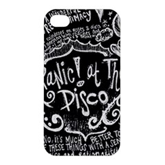 Panic ! At The Disco Lyric Quotes Apple iPhone 4/4S Premium Hardshell Case