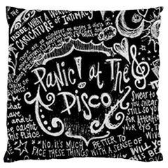 Panic ! At The Disco Lyric Quotes Large Cushion Case (One Side)